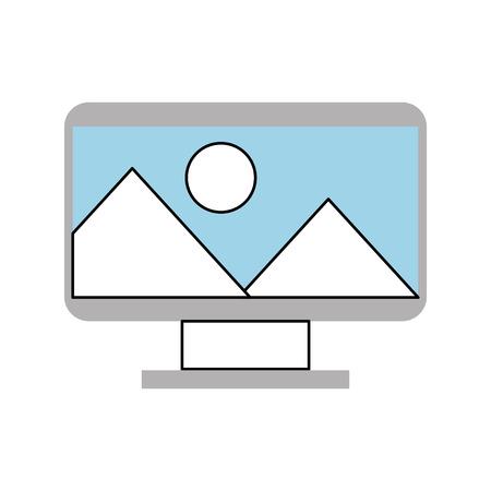 컴퓨터 전자 작업 아이콘 벡터 일러스트 레이 션 디자인 그래픽 일러스트