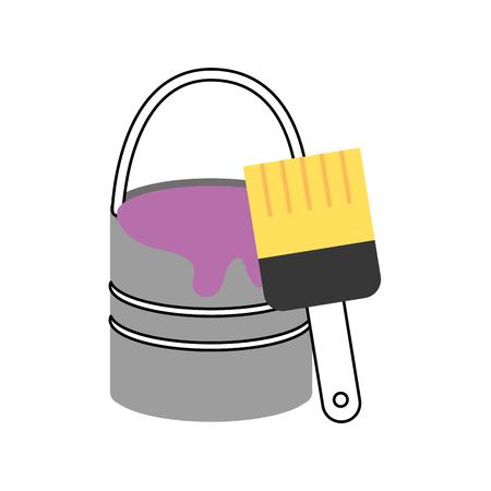 악기 브러쉬 작업 아이콘 벡터 일러스트 디자인 그래픽 일러스트