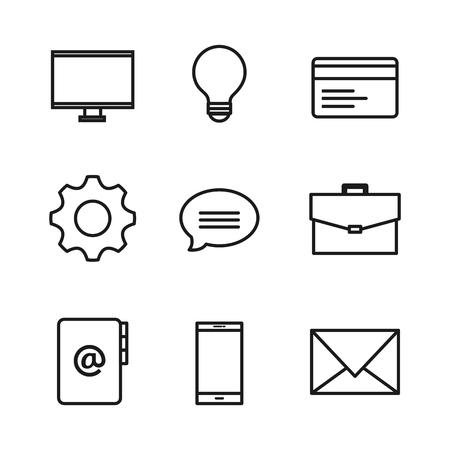 Hand drawn internet related design over white background vector illustration