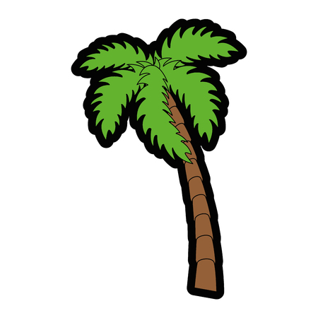 tropical palm icon over white background colorful design vector illustration Stock fotó - 80910797