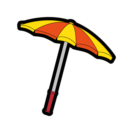 beach parasol icon over white background colorful design vector illustration