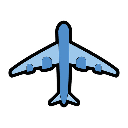 airplane icon over white background vector illustration
