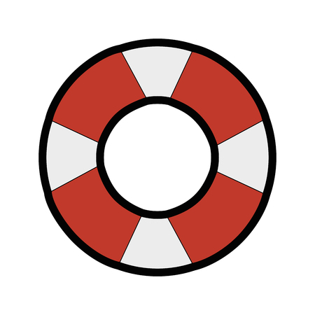 白地カラフルなデザインのベクトル図を安全フロート アイコン 写真素材 - 80910174