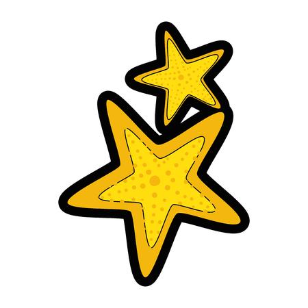 白地カラフルなデザイン ベクトル イラスト上の海の星のアイコン。