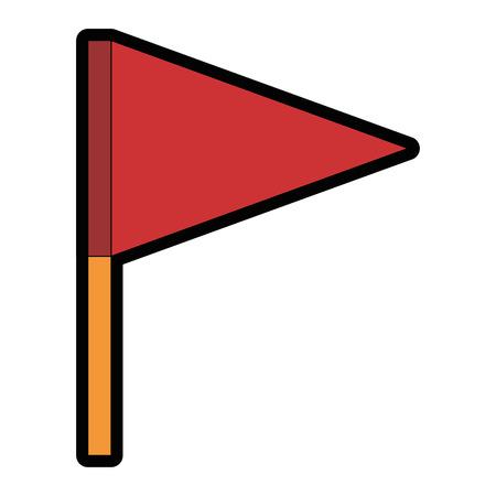 白地カラフルなデザインのベクトル図の上の旗のアイコン