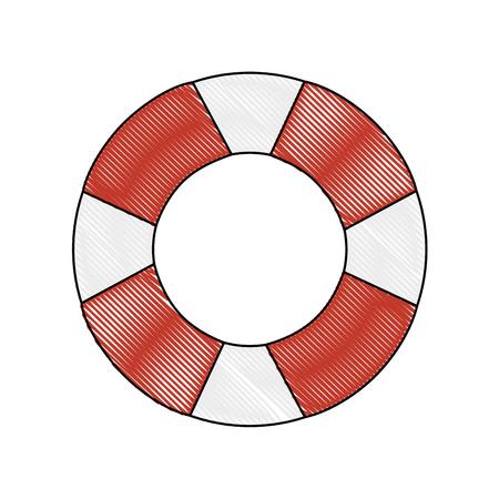 흰색 배경 위에 안전 float 아이콘 화려한 디자인 벡터 일러스트 레이 션