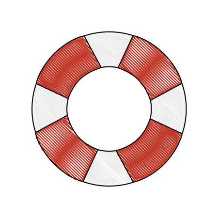 safety float icon over white background colorful design vector illustration Illusztráció