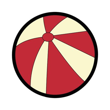 strandbal pictogram over witte achtergrond kleurrijke ontwerp vectorillustratie