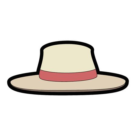 흰색 배경 위에 모자 아이콘 화려한 디자인 벡터 일러스트 레이 션.