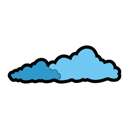 A clouds icon over white background colorful design vector illustration