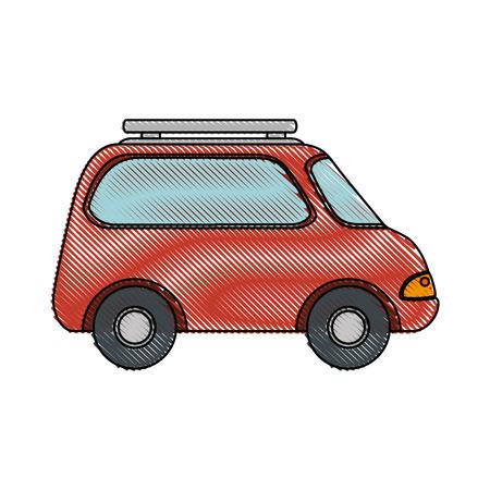 A car icon over white background colorful design vector illustration Ilustracja