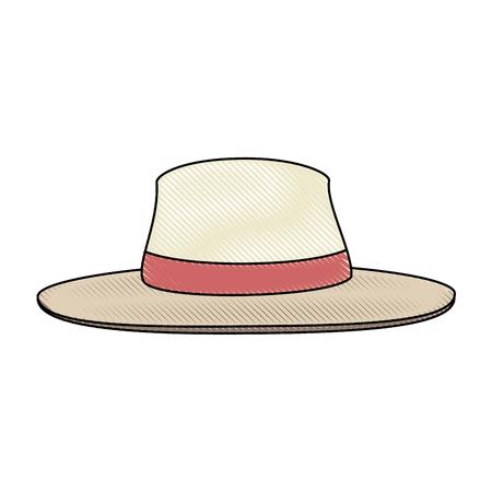 흰색 배경 위에 모자 아이콘 화려한 디자인 벡터 일러스트 레이션