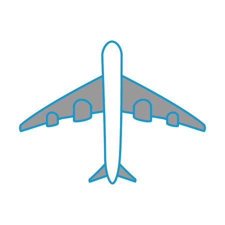 vliegtuig icoon over witte achtergrond vector illustratie Stock Illustratie