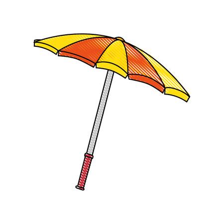 beach parasol icon over white background colorful design vector illustration Stock Vector - 80916143