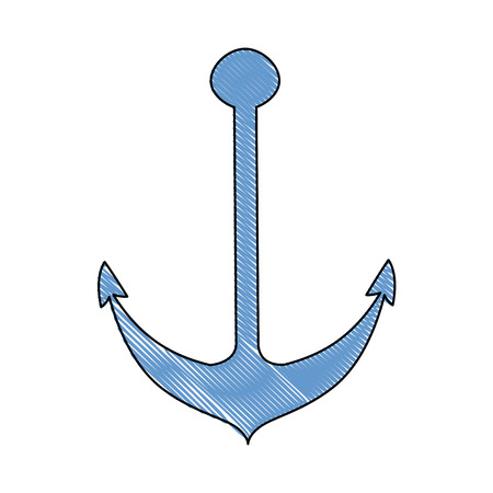 anchor icon over white background vector illustration Ilustração