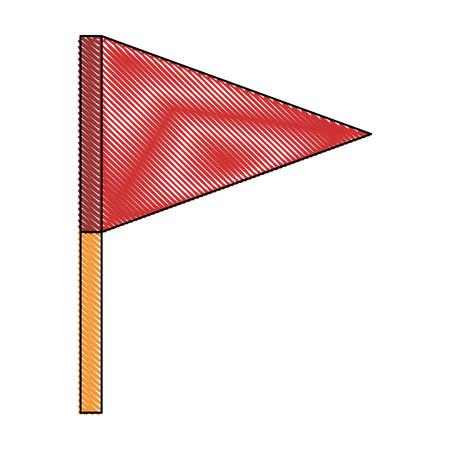 vlagpictogram over witte achtergrond kleurrijke ontwerp vectorillustratie