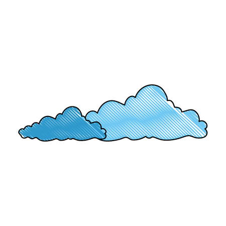 clouds icon over white background colorful design vector illustration Иллюстрация