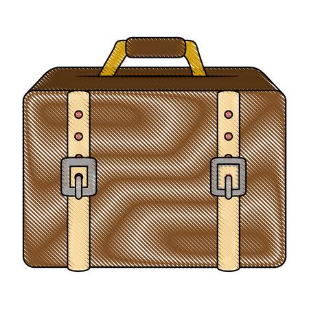 destination: travel suitcase icon over white background colorful design vector illustration