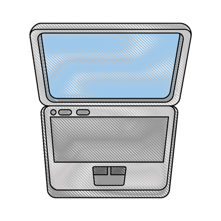 laptop computer icon over white background colorful design vector illustration Illusztráció