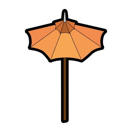 白い背景のベクトル図に傘アイコン  イラスト・ベクター素材