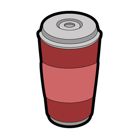 soft drink cup icon over white background colorful design vector illustration