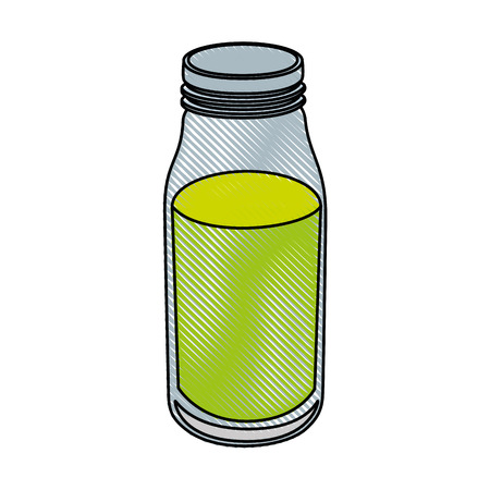 green juice icon over white background colorful design vector illustration