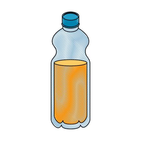 白地カラフルなデザインのベクトル図にオレンジ ジュース ボトル アイコン  イラスト・ベクター素材