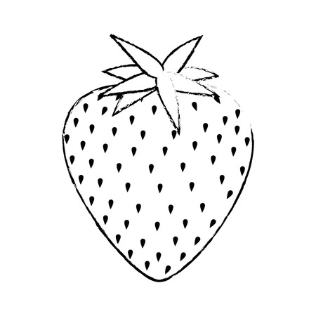 market gardening: strawberry fruit icon over white background vector illustration