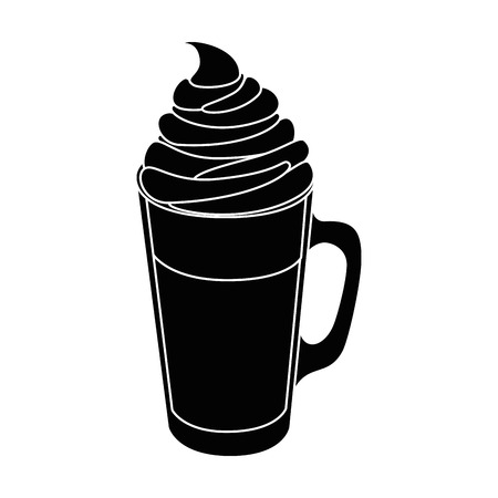 coffee drink icon over white background vector illustration Illustration