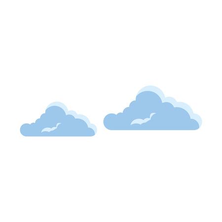 흰색 배경 벡터 일러스트 레이 션 위에 구름 아이콘