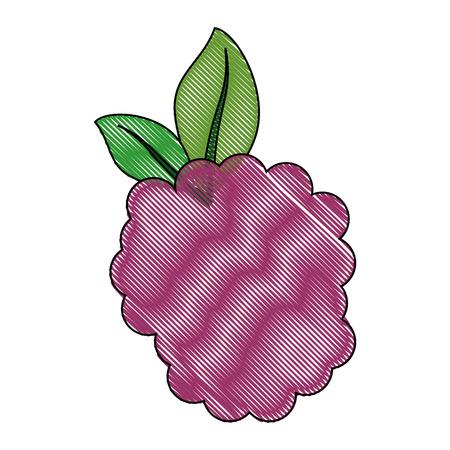 흰색 배경 위에 검은 딸기 과일 아이콘 화려한 디자인 벡터 일러스트 레이 션