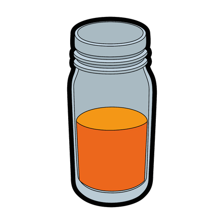 orange juice icon over white background colorful design vector illustration