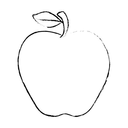 market gardening: apple fruit icon over white background vector illustration Illustration