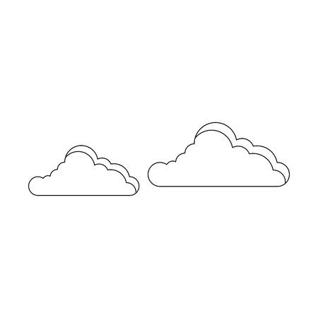 白背景ベクトル イラスト上の雲アイコン