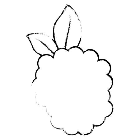 흰색 배경 벡터 일러스트 레이 션 위에 블랙 베리 과일 아이콘