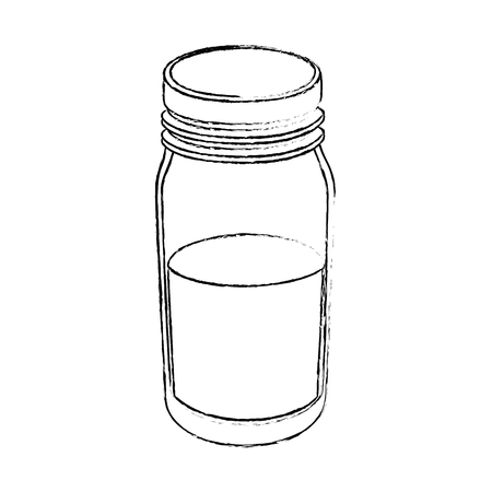 water bottle icon over white background vector illustration
