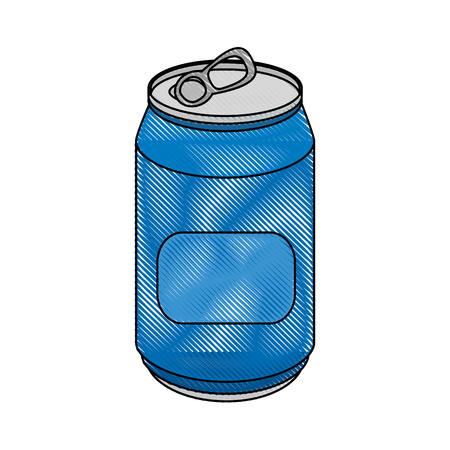non alcoholic: soft drink can icon over white background colorful design vector illustration