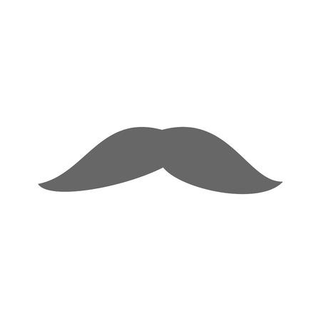 mustache icon over white background vector illustration Иллюстрация