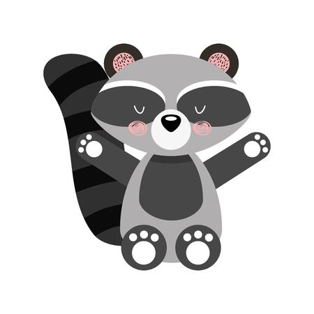 Animal guaxinim cartoon ícone vector ilustração design gráfico Foto de archivo - 80929597