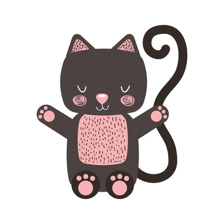 動物猫漫画アイコン ベクトル イラスト デザイン グラフィック