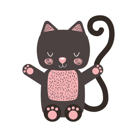 animal cat cartoon icon vector illustration design graphic