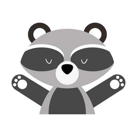 Animal raccoon cartoon icon vector illustration design graphic Illustration