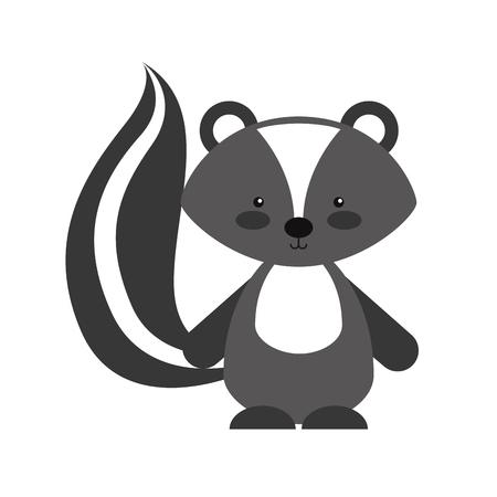 Animal Skunk cartoon icon vector illustration design graphic