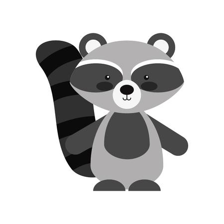 Animal mapache dibujos animados iconos ilustración vectorial diseño gráfico Foto de archivo - 80929635