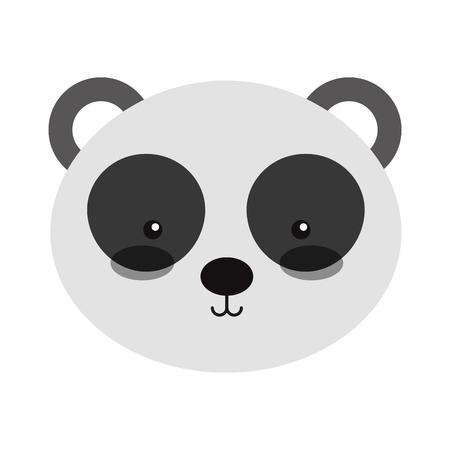 Animal panda dessin animé icône illustration vectorielle conception graphique Banque d'images - 80929641