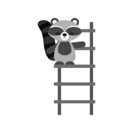 Animal guaxinim cartoon ícone vector ilustração design gráfico Foto de archivo - 80929649