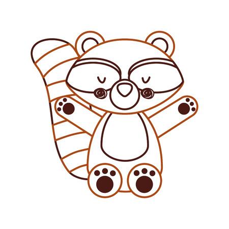amusing: Animal raccoon cartoon icon vector illustration design graphic Illustration