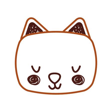animal cat cartoon icon vector illustration design graphic
