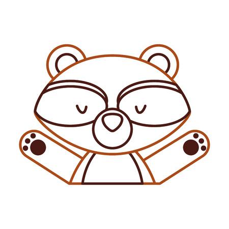 Animal guaxinim cartoon ícone vector ilustração design gráfico Foto de archivo - 80932260