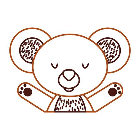 Animal koala cartoon icon vector illustration design graphic